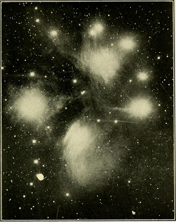 A hundred-year old image of the stars in the night sky