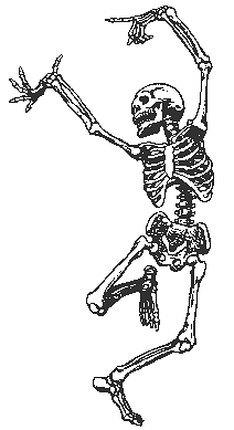 Skeleton, dancing
