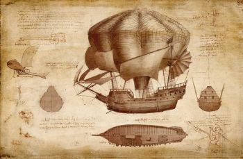 Da Vinci's design for an airship